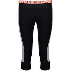Mons Royale W's Alagna 3/4 Leggings Black/Grey Marl